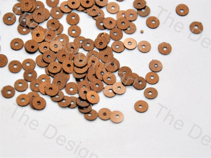 Copper Round Centre Hole Sequins (440639815714)
