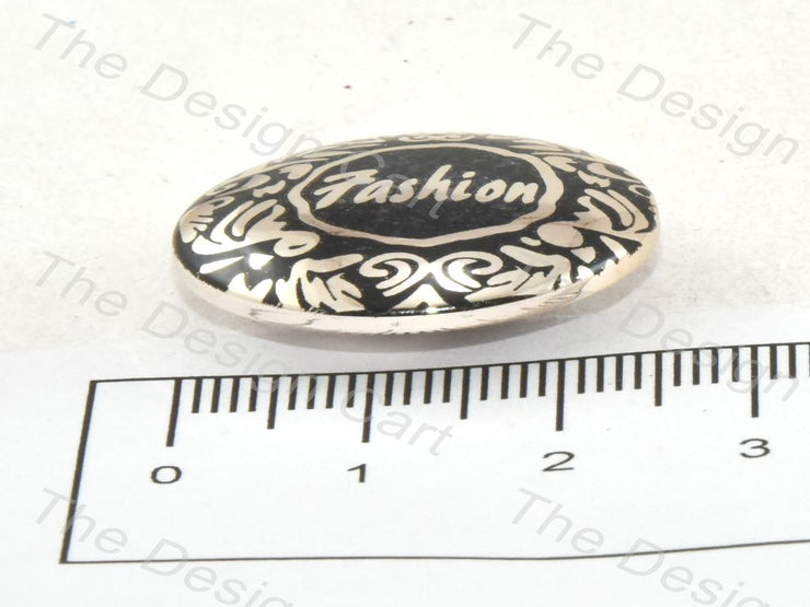 Black Fashion Metallic Finish Acrylic Button - The Design Cart