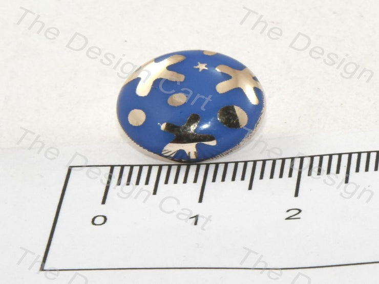Blue Starfish UV Metallic Finsih Button - The Design Cart