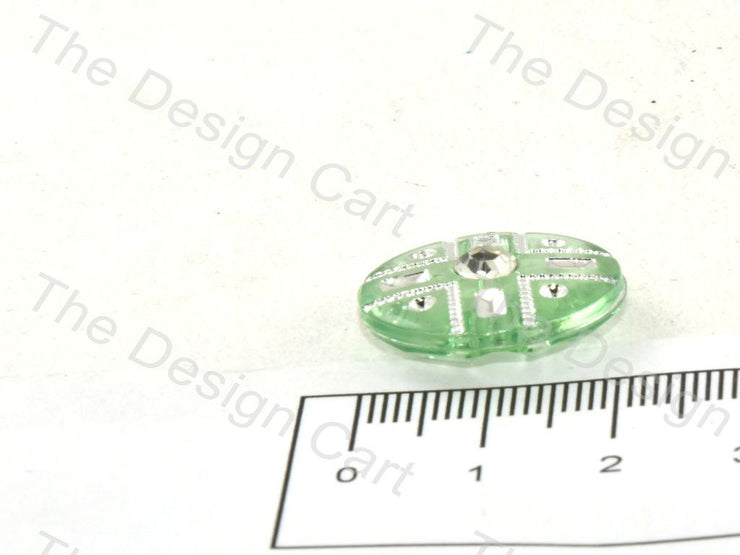 Teal Crystal Buttons With Glass Stone - The Design Cart (369915396130)