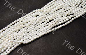 Cream Oval Plastic Beads