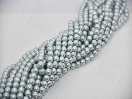 Gray Dyed Glass Pearls