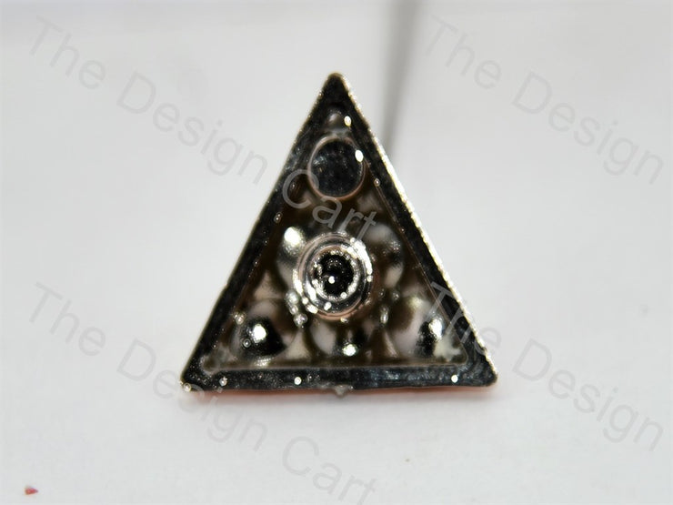 Triangular Plastic Stone With Enamel - The Design Cart (398328856610)