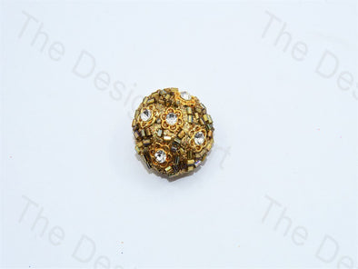 Bead Glass Golden Handcrafted Buttons