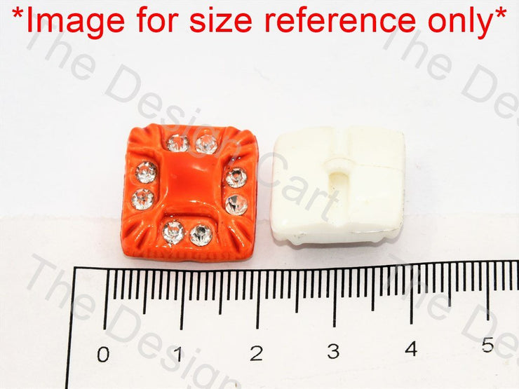 White Stone Crystal Square Button - The Design Cart (444324806690)