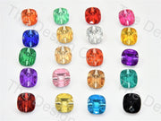 Bulb Square Crystal Buttons