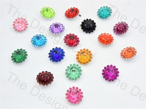 Flower Crystal Buttons