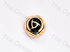 Black Golden Triangle UV Acrylic Buttons