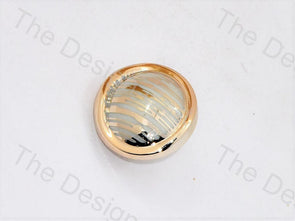 White Golden Lines UV Acrylic Buttons
