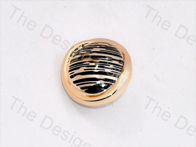 Black Golden Lines UV Acrylic Buttons
