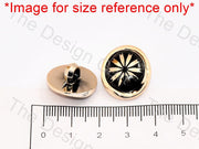 Black Golden Wave UV Acrylic Buttons - The Design Cart (444678242338)