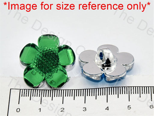 Flower Cutting Crystal Buttons - The Design Cart