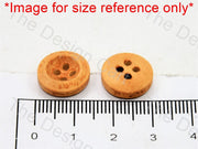 Inward Curved Yellow Wooden Buttons - The Design Cart (446043258914)