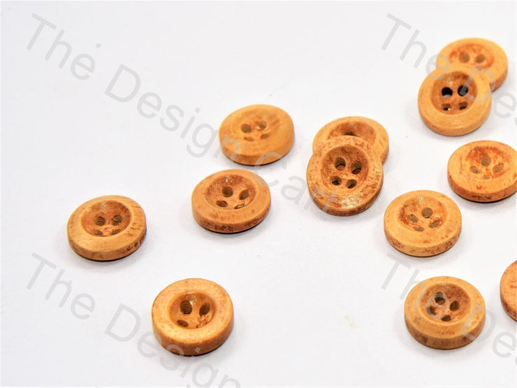Inward Curved Yellow Wooden Buttons (446043258914)