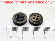 Inward Round Black Wooden Buttons - The Design Cart