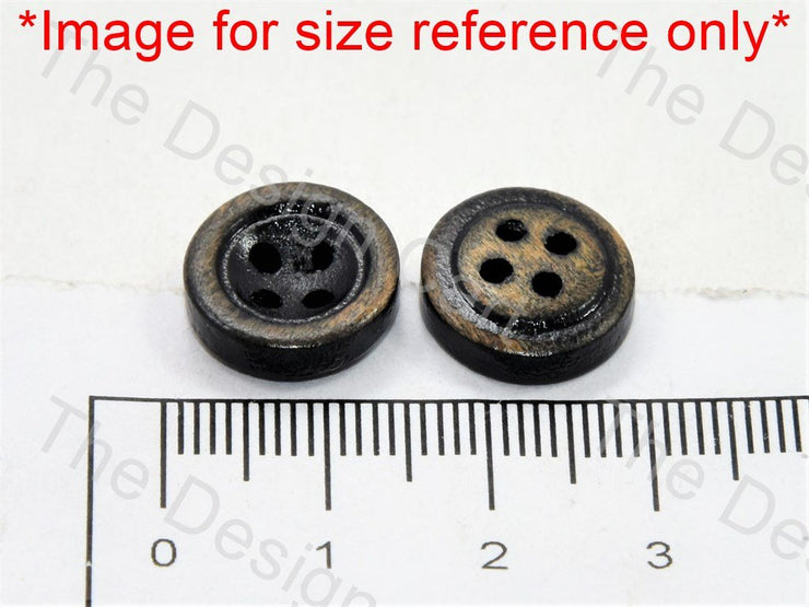 Inward Round Black Wooden Buttons - The Design Cart (446043422754)