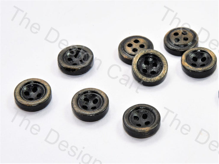 Inward Round Black Wooden Buttons (446043422754)
