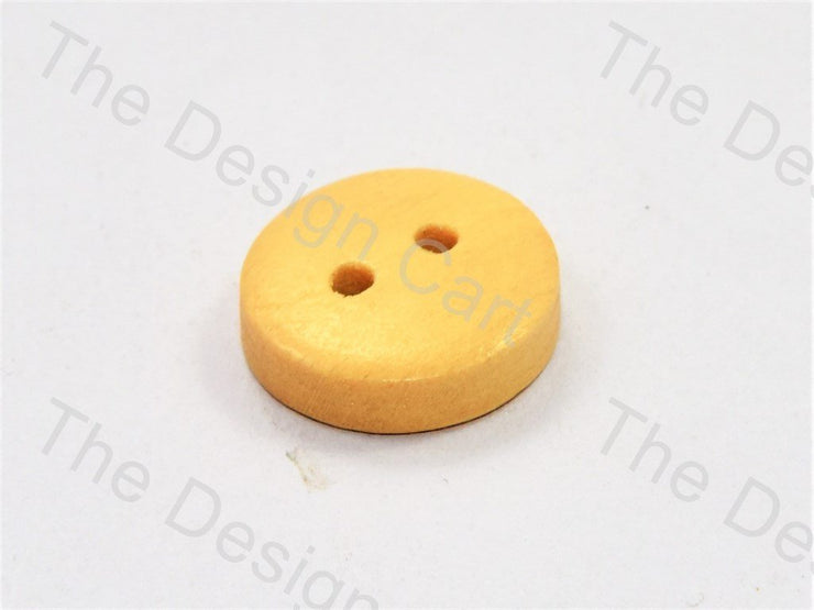 Inward Plain Yellow Wooden Buttons