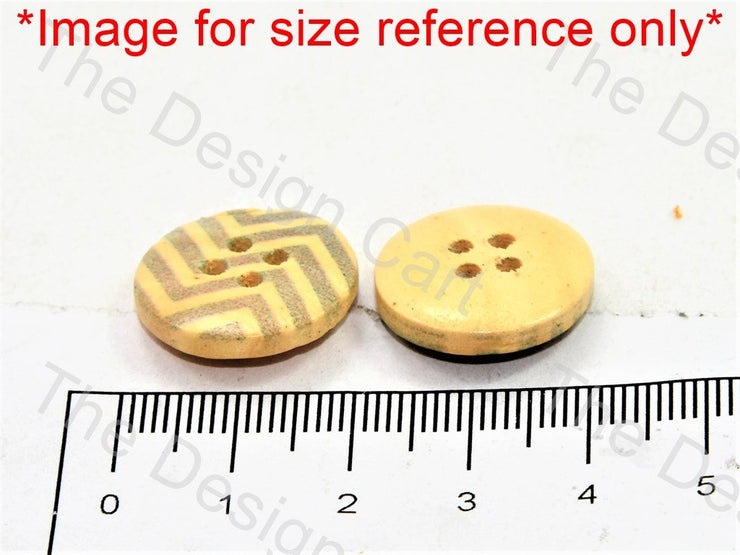 Gray Zigzag Print Yellow Wooden Buttons - The Design Cart (446454792226)