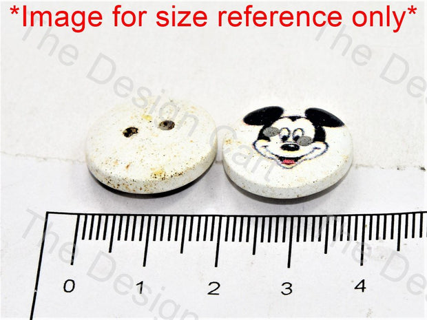 Micky Mouse Print White Wooden Buttons - The Design Cart