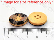 White Brown Apple Print Brown Wooden Buttons - The Design Cart (447481053218)
