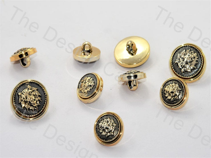 Leo Design Golden Gray Suit Buttons