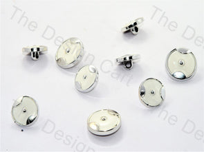 Axe Design Silver White Suit Buttons