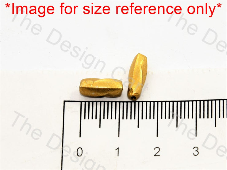 Golden Twisted Cylindrical Plastic Beads (501949890594)