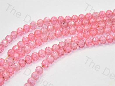 Baby Pink Faceted Cubic Zirconia (CZ) Stones