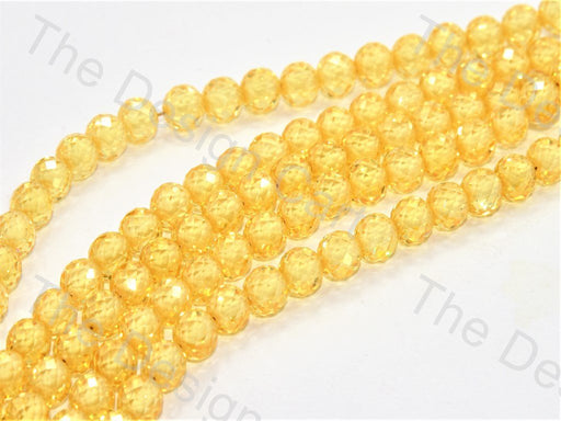 Yellow Faceted Cubic Zirconia (CZ) Stones