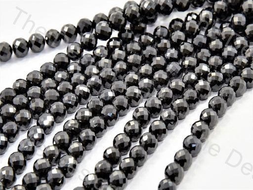 Black Faceted Cubic Zirconia (CZ) Stones