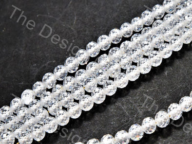 White Faceted Cubic Zirconia (CZ) Stones