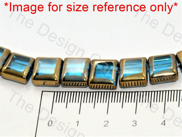 Brown Golden Border Designer Beads - The Design Cart