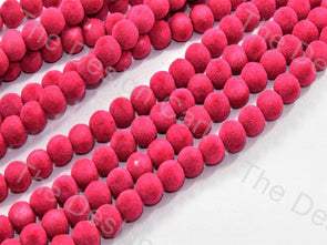 Magenta Spherical Velvet Beads