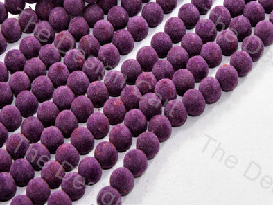 Violet Spherical Velvet Beads