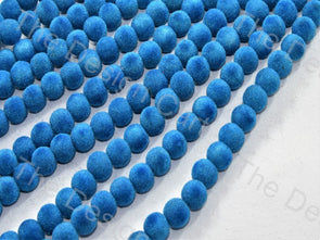 Turquoise Spherical Velvet Beads