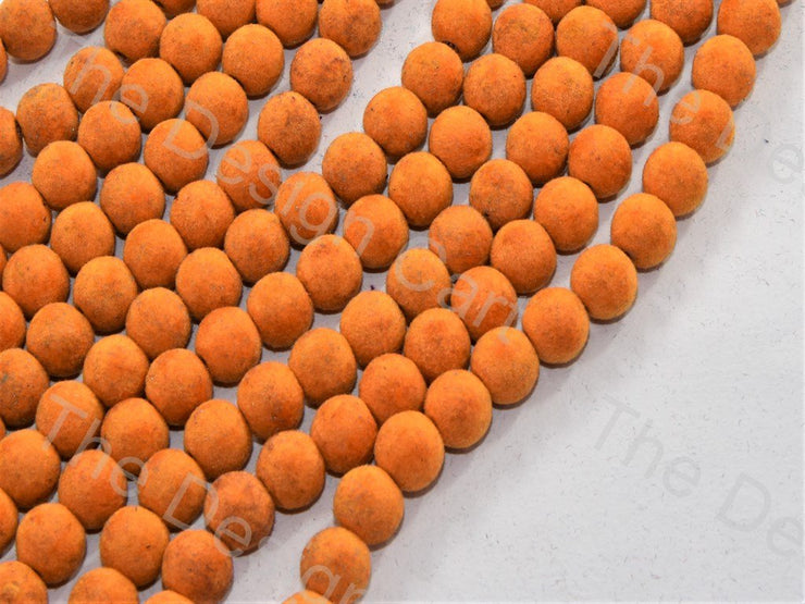 Light Orange Spherical Velvet Beads (547052191778)