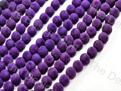 Purple Spherical Velvet Beads
