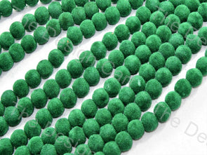 Green Spherical Velvet Beads