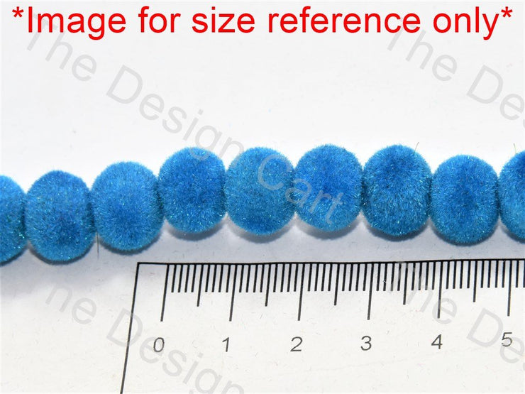 Blue Spherical Velvet Beads - The Design Cart (547052126242)