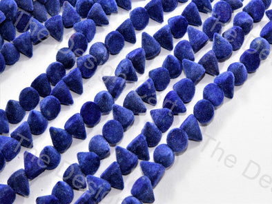 Blue Conical Velvet Beads