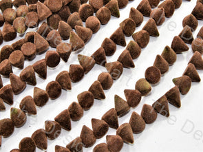 Brown Conical Velvet Beads