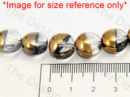 Transparent Golden Dual Circular Designer Beads