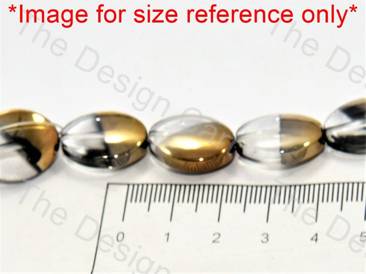 Red Golden Dual Oval Designer Beads - The Design Cart