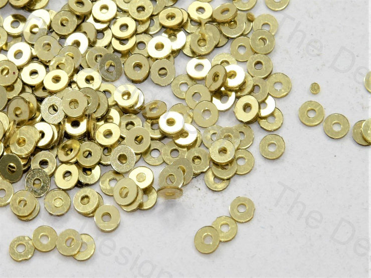 Dull Yellow Centrehole Circular Sequins (549512118306)