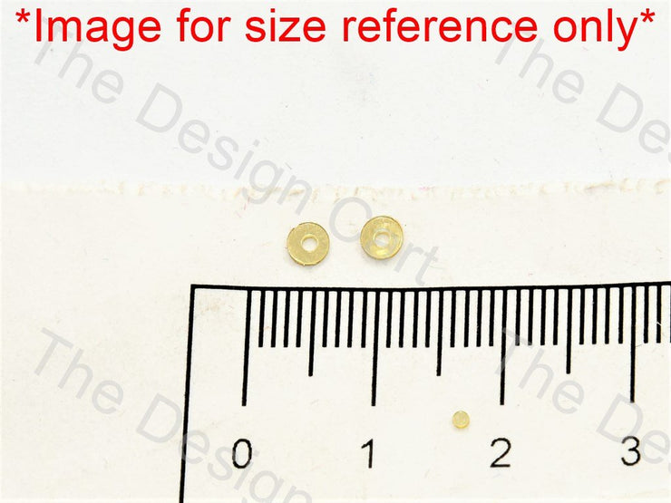 Dull Yellow Centrehole Circular Sequins - The Design Cart (549512118306)