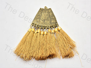Golden Metal Tassels Design