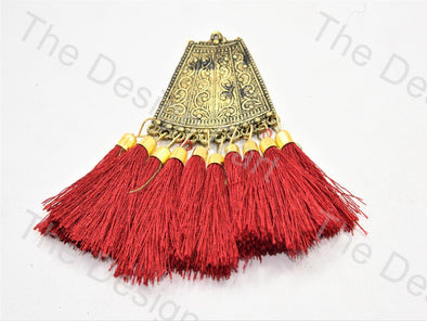 Red Metal Tassels Design