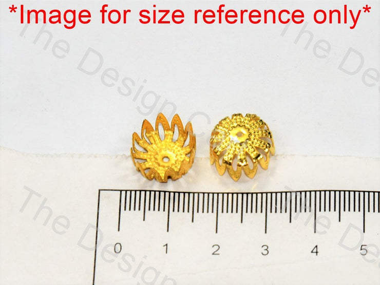 Cylindrical Flower Golden Bead Caps - The Design Cart