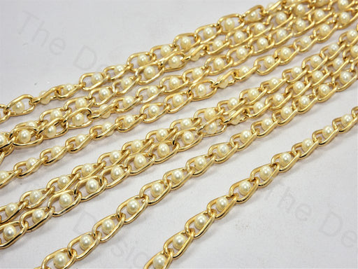Pearl Golden Hooks Metal Chain